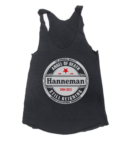 Hanneman Angel of Death Triblend Racerback Women Tank Top