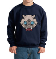 Inosuke Hashibira Mask Boar Head Kid / Youth Crewneck Sweatshirt