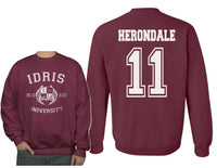 Herondale 11 Idris University Unisex Crewneck Sweatshirt (Adult)
