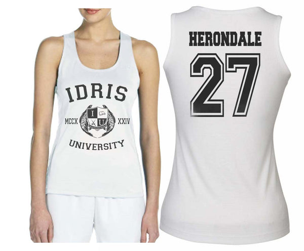 Herondale 27 Idris University Women Tank Top White - Meh. Geek - 1