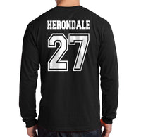 Herondale 27 On BACK Idris University Long Sleeve T-shirt for Men - Meh. Geek - 2