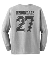 Herondale 27 On BACK Idris University Long Sleeve T-shirt for Men - Meh. Geek - 3