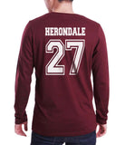 Herondale 27 On BACK Idris University Long Sleeve T-shirt for Men - Meh. Geek - 4