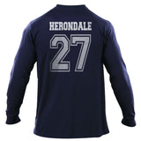 Herondale 27 On BACK Idris University Long Sleeve T-shirt for Men - Meh. Geek - 1