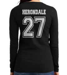 Herondale 27 On BACK Idris University Long sleeve T-shirt for Women - Meh. Geek - 3