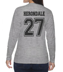 Herondale 27 On BACK Idris University Long sleeve T-shirt for Women - Meh. Geek - 4