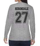 Herondale 27 Idris University Long sleeve T-shirt for Women Sport Grey - Meh. Geek - 3