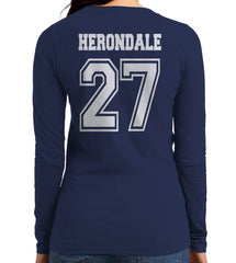 Herondale 27 Idris University Long sleeve T-shirt for Women Navy - Meh. Geek - 3