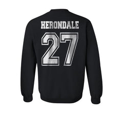 Herondale 27 On BACK Idris University Unisex Crewneck Sweatshirt - Meh. Geek - 2