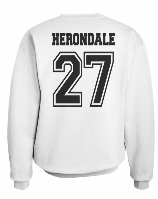 Herondale 27 On BACK Idris University Unisex Crewneck Sweatshirt - Meh. Geek - 5