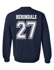 Herondale 27 On BACK Idris University Shadowhunters Unisex Crewneck Sweatshirt Adult