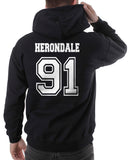 Herondale 91 On BACK Idris University Unisex Pullover Hoodie - Meh. Geek - 5