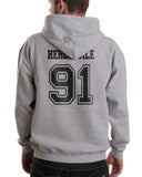 Herondale 91 On BACK Idris University Unisex Pullover Hoodie - Meh. Geek - 3