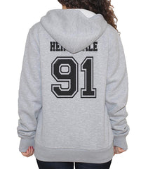 Herondale 91 Idris University Unisex Pullover Hoodie Light Steel - Meh. Geek - 3