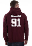 Herondale 91 On BACK Idris University Unisex Pullover Hoodie - Meh. Geek - 4