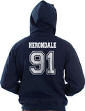 Herondale 91 On BACK Idris University Unisex Pullover Hoodie - Meh. Geek - 1