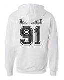 Herondale 91 On BACK Idris University Unisex Pullover Hoodie - Meh. Geek - 2