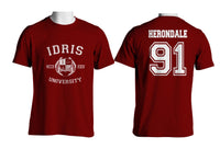 Herondale 91 Idris University Men T-shirt Maroon