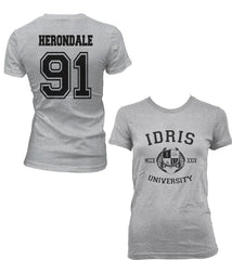 Herondale 91 Idris University Women T-shirt Sport Grey - Meh. Geek - 1
