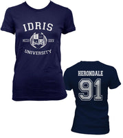 Herondale 91 Idris University Women T-shirt Navy