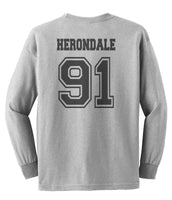 Herondale 91 Idris University Long Sleeve T-shirt for Men Sport Grey - Meh. Geek - 3