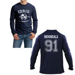 Herondale 91 Idris University Long Sleeve T-shirt for Men Navy - Meh. Geek - 1
