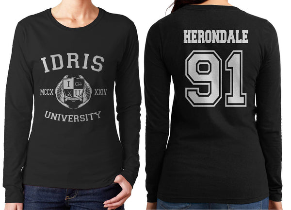 Herondale 91 Idris University Long sleeve T-shirt for Women Black - Meh. Geek - 1