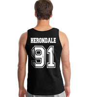 Herondale 91 Idris University Men Tank Top Black