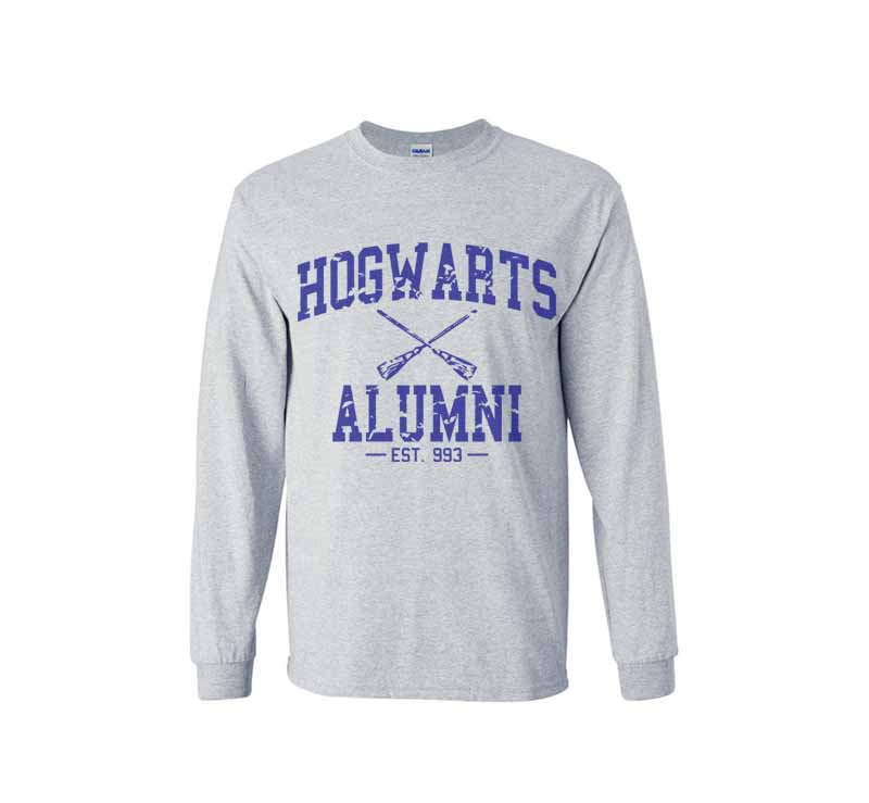Hogwarts Alumni #1 Blue ink Long Sleeve T-shirt for Men HA1