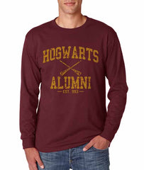 Hogwarts Alumni #1 Yellow ink Long Sleeve T-shirt for Men HA1