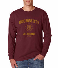Hogwarts Alumni #3 Yellow ink Long Sleeve T-shirt for Men HA3