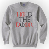 Hold the Door Red Game of Thrones Unisex Crewneck Sweatshirt - Meh. Geek - 4