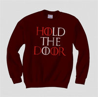 Hold the Door Red Game of Thrones Unisex Crewneck Sweatshirt - Meh. Geek - 5
