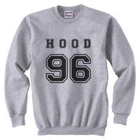 Hood 96 Black Ink on Front Calum Hood Unisex Crewneck Sweatshirt - Meh. Geek