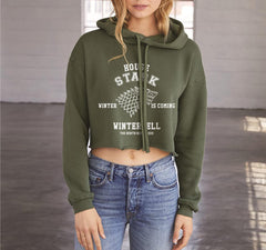 House Stark New Cropped Hoodie