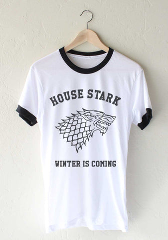 House Stark Winter Is Coming Ringer Unisex T-shirt / tee
