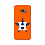 Houston Astros Star Orange Samsung Galaxy Snap or Tough Case