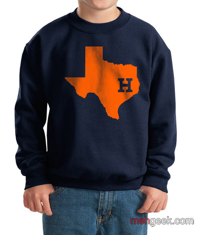 Houston Astros Kid / Youth Crewneck Sweatshirt
