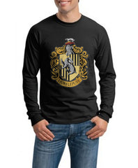 Hufflepuff Crest #1 Long Sleeve T-shirt for Men PA crest
