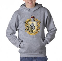 Hufflepuff Crest #1 Kid / Youth Hoodie Navy PA Crest
