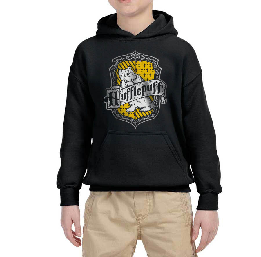 Hufflepuff Crest #2 Kid / Youth Hoodie Navy PA Crest
