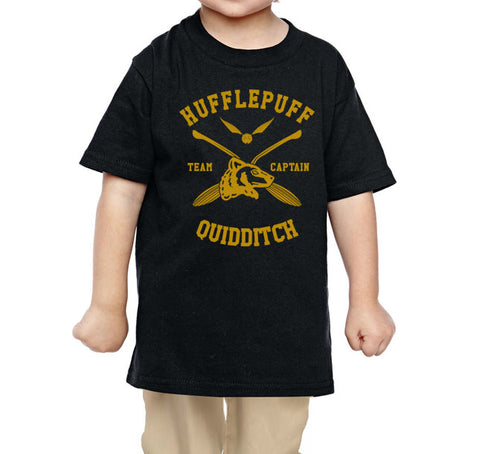 Hufflepuff CAPTAIN quidditch team Toddler T-shirt tee PA New