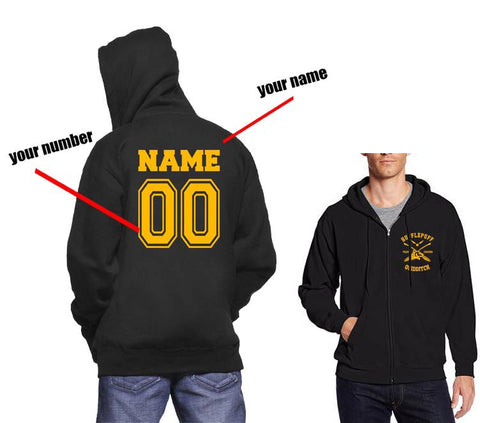 Customize - New Hufflepuff CHASER Quidditch Team pocket Unisex Zip Up Hoodie