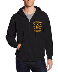 Hufflepuff KEEPER Quidditch Team Front and back Unisex Zip Up Hoodie PA New