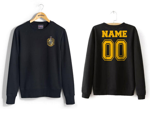 Customize - Hufflepuff Crest #1 Pocket Unisex Crewneck Sweatshirt (Adult)