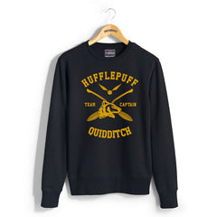 Customize - New Hufflepuff CAPTAIN Quidditch Team Unisex Crewneck Sweatshirt  (Adult)