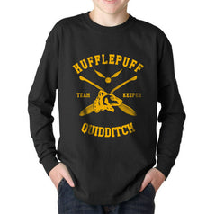 Customize - New Hufflepuff KEEPER Quidditch Team Kid / Youth Long Sleeves T-shirt tee