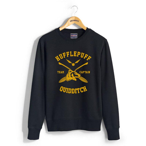 Hufflepuff CAPTAIN Quidditch Team Unisex Crewneck Sweatshirt PA New Adult