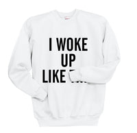 I Woke Up Like This Unisex Crewneck Sweatshirt - Meh. Geek