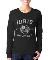 Fairchild 13 Idris University Long sleeve T-shirt for Women Black - Meh. Geek - 2